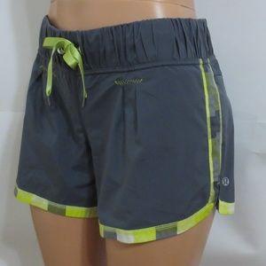 Lululemon Active Shorts Khaki Gray 8